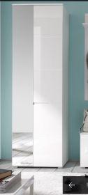 Garderobenschrank Hochschrank Flurschrank Dielenschrank Weiß mit Spiegel1
