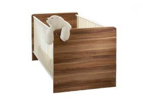 Kinderbett WIKI Babybett Kinderzimmer Babyzimmer Walnuss Weiß1