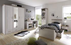 Kinderzimmer-Set LUCA Jugendzimmer 5tlg Pinie weiß1