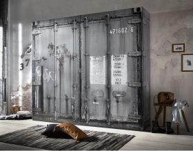 Kleiderschrank Schlafzimmerschrank Container Optik Industrie Design Loft Möbel1