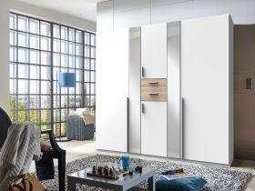 kleiderschrank-schrank-drehtueren-schlafzimmer-225cm-spiegel-weiss-braun-eiche1