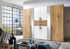 kleiderschrank-schrank-drehtueren-schlafzimmer-270-cm-spiegel-braun-eiche-weiss1