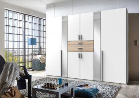 kleiderschrank-schrank-drehtueren-schlafzimmer-270-cm-spiegel-weiss-braun-eiche1