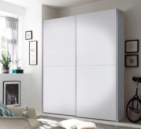 Kleiderschrank Schwebetürenschrank Schlafzimmer 170cm Weiß Schachbrett1