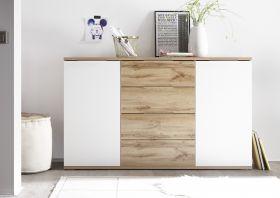 Kommode BECASA Sideboard Wohnzimmer Schlafzimmer Flur Wildeiche weiß1