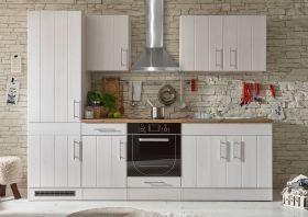 Küche Landhaus Küchenblock Küchenzeile 270cm Singleküche Landhausstil weiß1