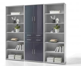 Regalwand OFFICE LINE LUX Regal Regal-Set XL Aktenschrank Aktenregal Büro1