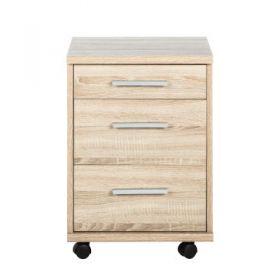 Rollcontainer OFFICE LINE für Winkelschreibtisch Schreibtisch Büro Eiche Sonoma1