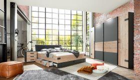 schlafzimmer-komplett-set-4-tlg-stockholm-bett-kleiderschrank-grau-braun1