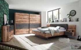 schlafzimmer-komplett-set-bett-180-cm-kleiderschrank-270-cm-kommode-braun-grau1