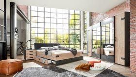 schlafzimmer-komplett-set-stockholm-bett-kleiderschrank-272cm-spiegel-graubraun1