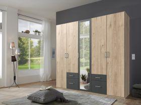 schrank-5-tueren-drehtuerenschrankkleiderschrank-schlafzimmer-spiegel-walnuss-grau1
