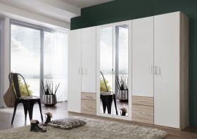 schrank-6-tueren-drehtuerenschrank-kleiderschrank-schlafzimmer-spiegel-weiss-eiche1