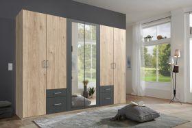 schrank-6-tueren-drehtuerenschrankkleiderschrank-schlafzimmer-spiegel-walnuss-grau1