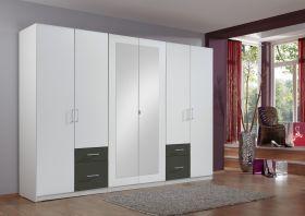 schrank-6-tueren-kleiderschrank-drehtuerenschrank-schlafzimmer-spiegel-weiss-grau1
