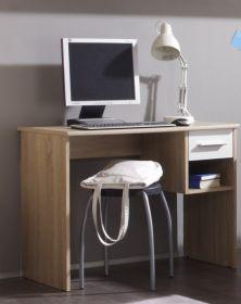 Schreibtisch NANU Kinderzimmer Jugendzimmer Eiche Sonoma weiß 92cm1