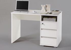 Schreibtisch PRIMUS PC Tisch Computertisch Home-Office Büro weiß1