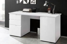 Schreibtisch SPICE 2 Schreibtisch PC Tisch weiß Hochglanz1
