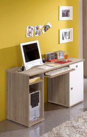 Schreibtisch WIKI Kinderzimmer Jugendzimmer PC Büro Sonoma Eiche Weiß1