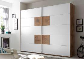 Schwebetürenschrank CAPRI Kleiderschrank Schrank Schlafzimmer weiß Eiche 270cm1