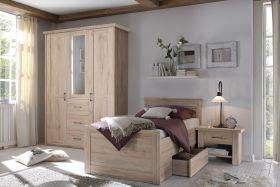 Senior Schlafzimmer Komplett Set 3-tlg LUCA K Komfort Seniorenzimmer Eiche1