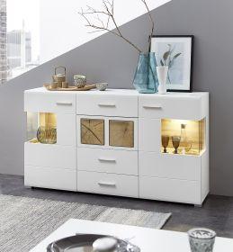 Sideboard Kommode FUN PLUS Anrichte Schrank Wohnwand LED Licht 170cm weiß1