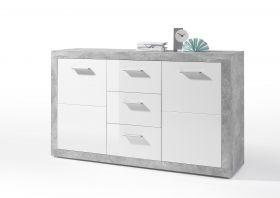 Sideboard Kommode Stone Esszimmer weiß grau beton 150cm1