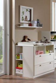 Wickelkommode FILOU Regal Babyzimmer Kommode Wickeltisch Weiß1