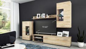 Wohnwand Anbauwand TV Wand Wohnzimmer Möbel Set Cool 4-teilig Eiche Sonoma1