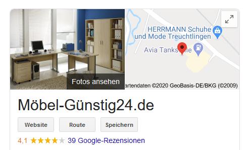 moebel-guenstig24 bei Google