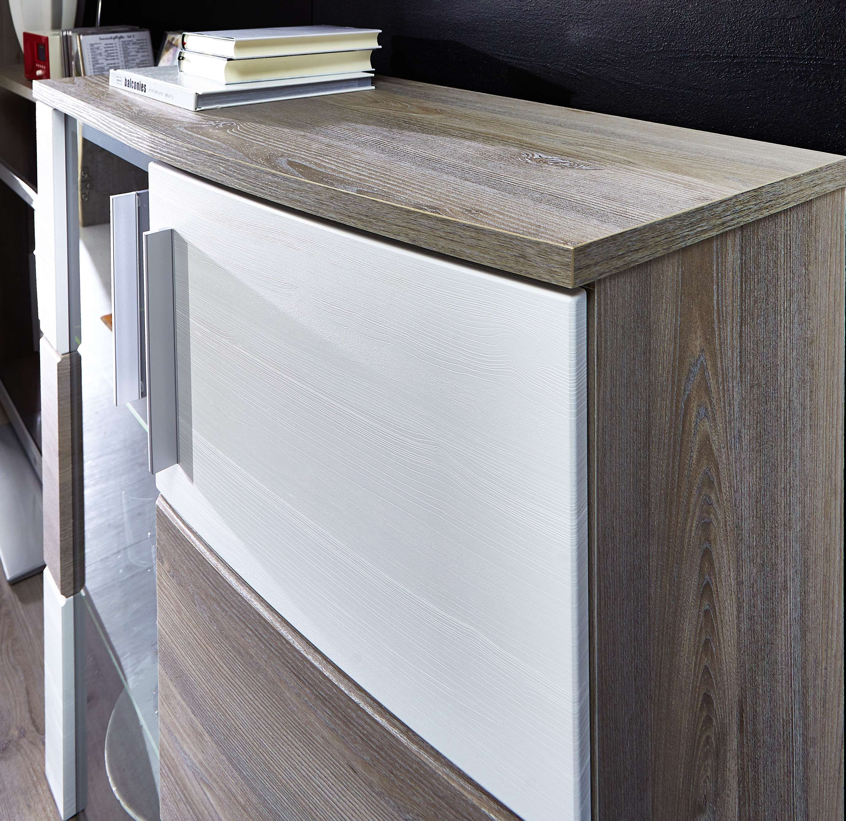 wohnwand jam 5tlg wohnzimmer set 300cm vitrine wandboard. Black Bedroom Furniture Sets. Home Design Ideas