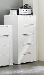 Details zu Kommode DINARO 65cm Sideboard Wohnzimmer Schlafzimmer Flur weiß  matt softclose