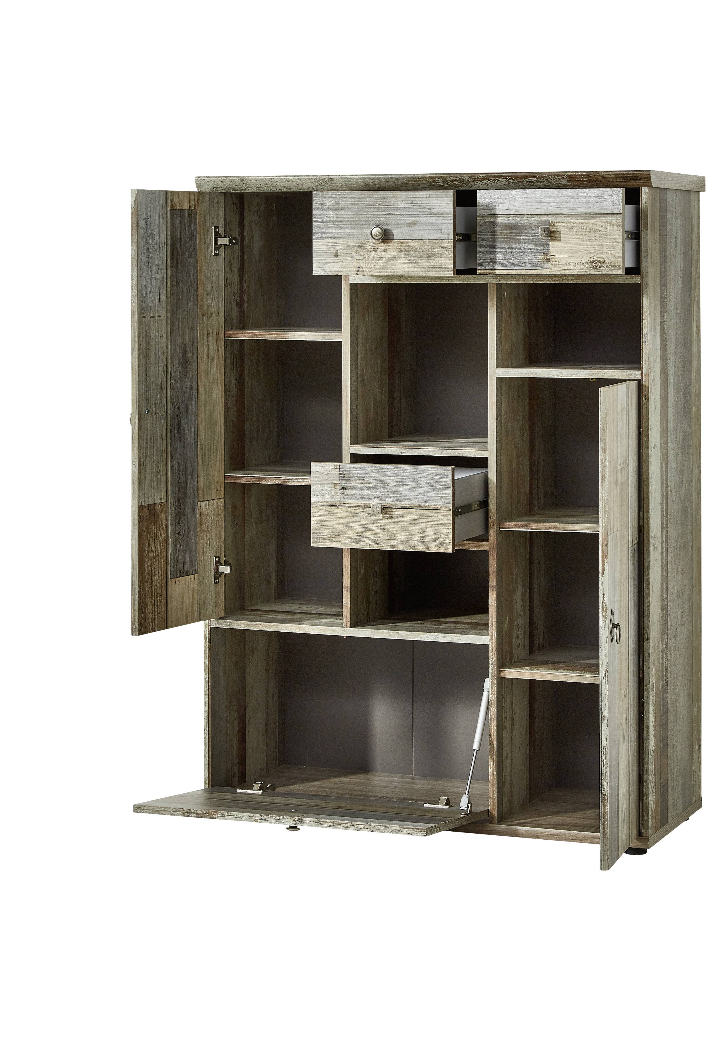 wohnwand wohnzimmer set vitrine lowboard wandregal tv. Black Bedroom Furniture Sets. Home Design Ideas