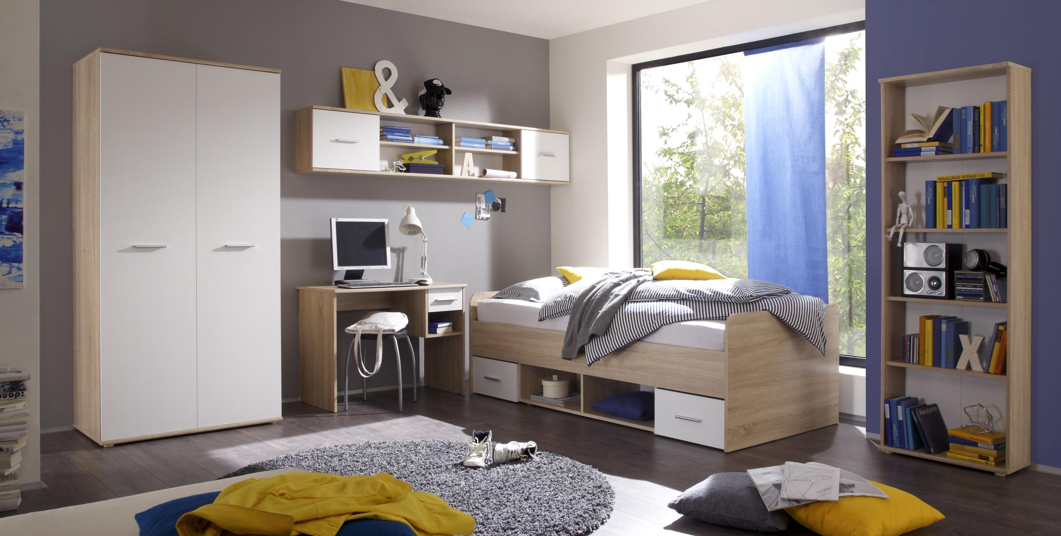 Details Zu Jugendzimmer Set Nanu Kinderzimmer 5tlg Komplett Set Eiche Weiss