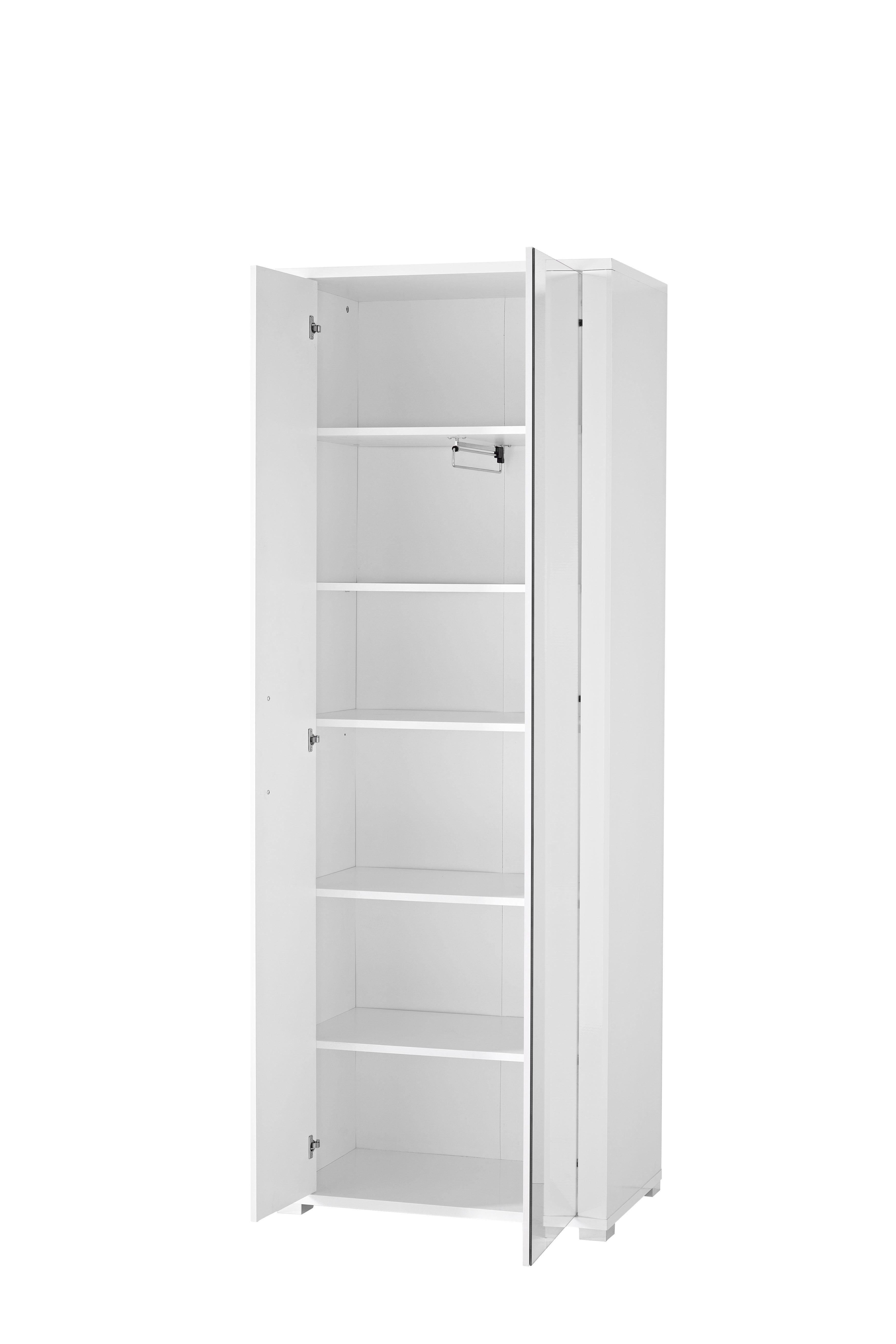 garderobe go 5 tlg garderobenschrank paneel bank schuhschrank spiegel wei ebay. Black Bedroom Furniture Sets. Home Design Ideas