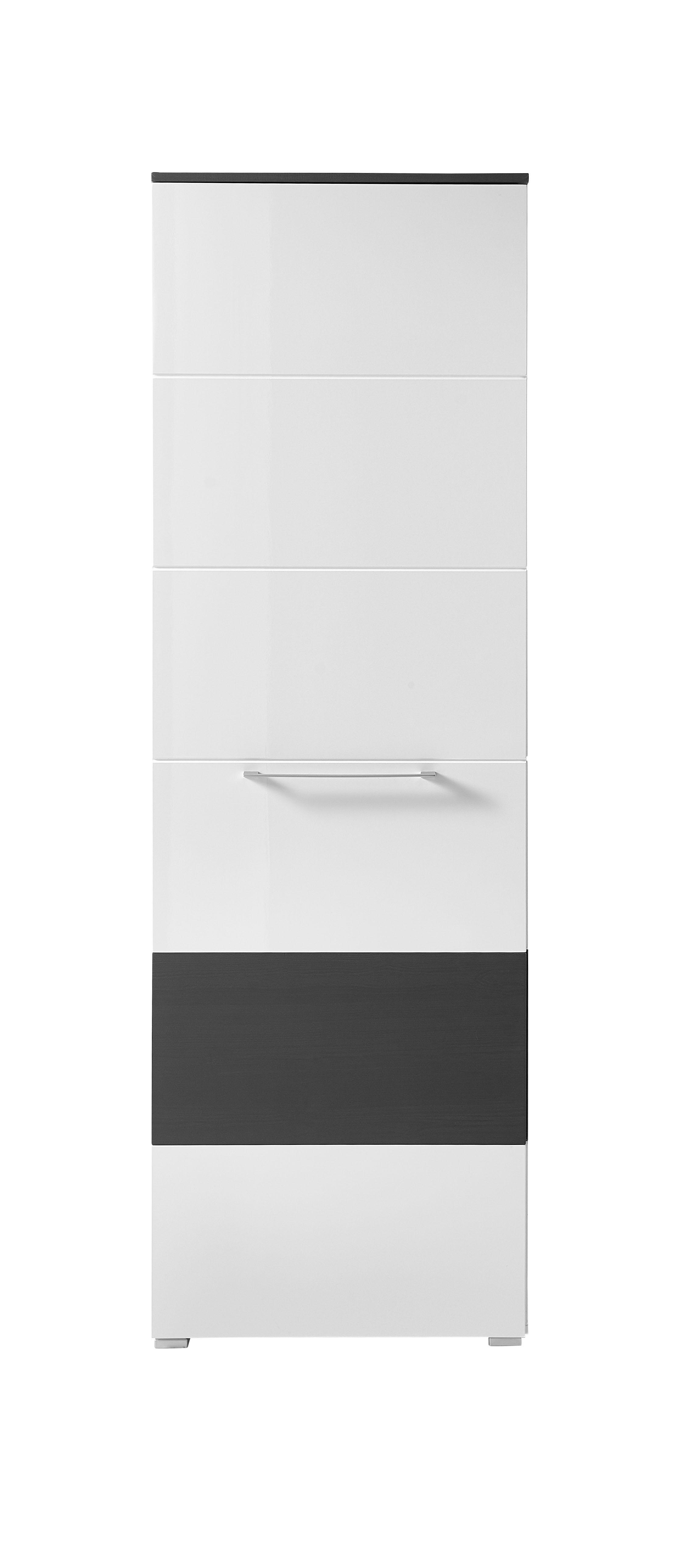 garderobe reno 5 tlg hochschrank paneel spiegel schuhschrank bank in wei grau ebay. Black Bedroom Furniture Sets. Home Design Ideas