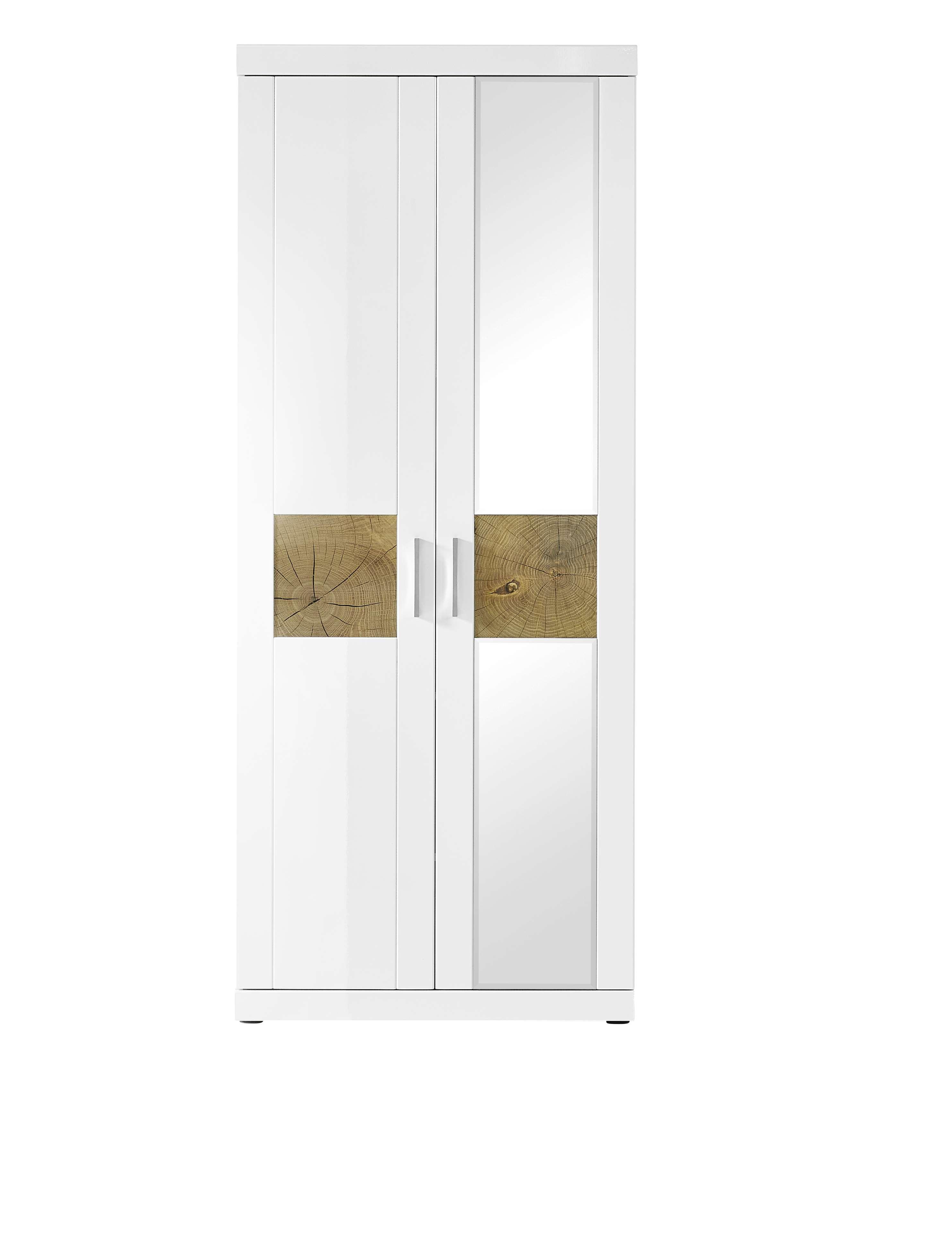 """Ansprechend Garderobenschrank Weiß Referenz Von Garderobe """"juno"""" Dielenschrank Hochschrank Weiß"""