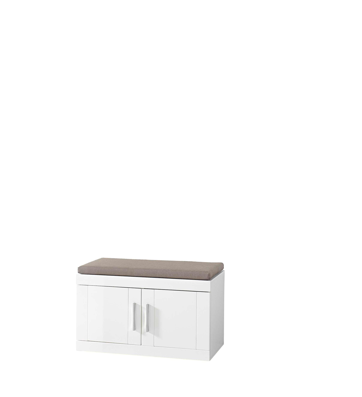 garderobe juno 5 tlg garderobenschrank paneel spiegel schuhschrank bank wei ebay. Black Bedroom Furniture Sets. Home Design Ideas