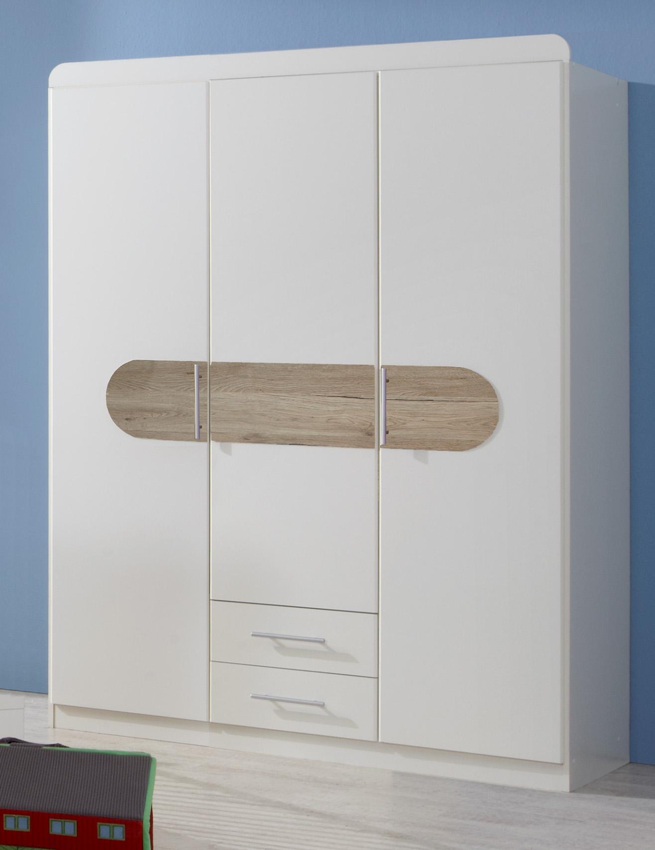 Kleiderschrank LILLY 3-Türig Schrank Babyzimmer Kinderzimmer Zimmer ...