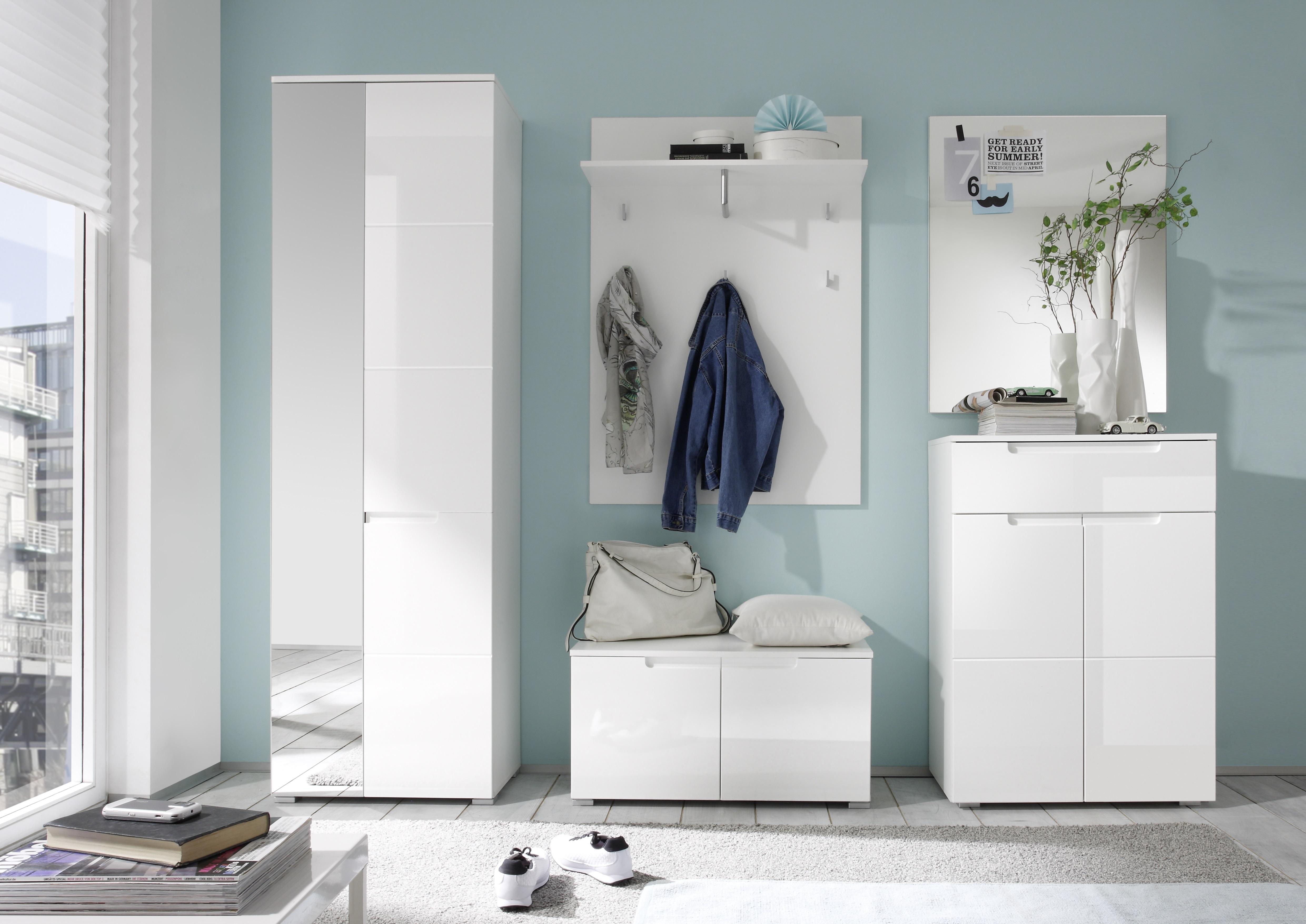 schuhbank spice garderobenbank garderobe schuhschrank 2 t ren 80cm wei ebay. Black Bedroom Furniture Sets. Home Design Ideas