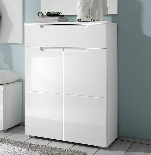 schuhschrank schuhkommode garderobenschrank flurkommode wei hochglanz ebay. Black Bedroom Furniture Sets. Home Design Ideas