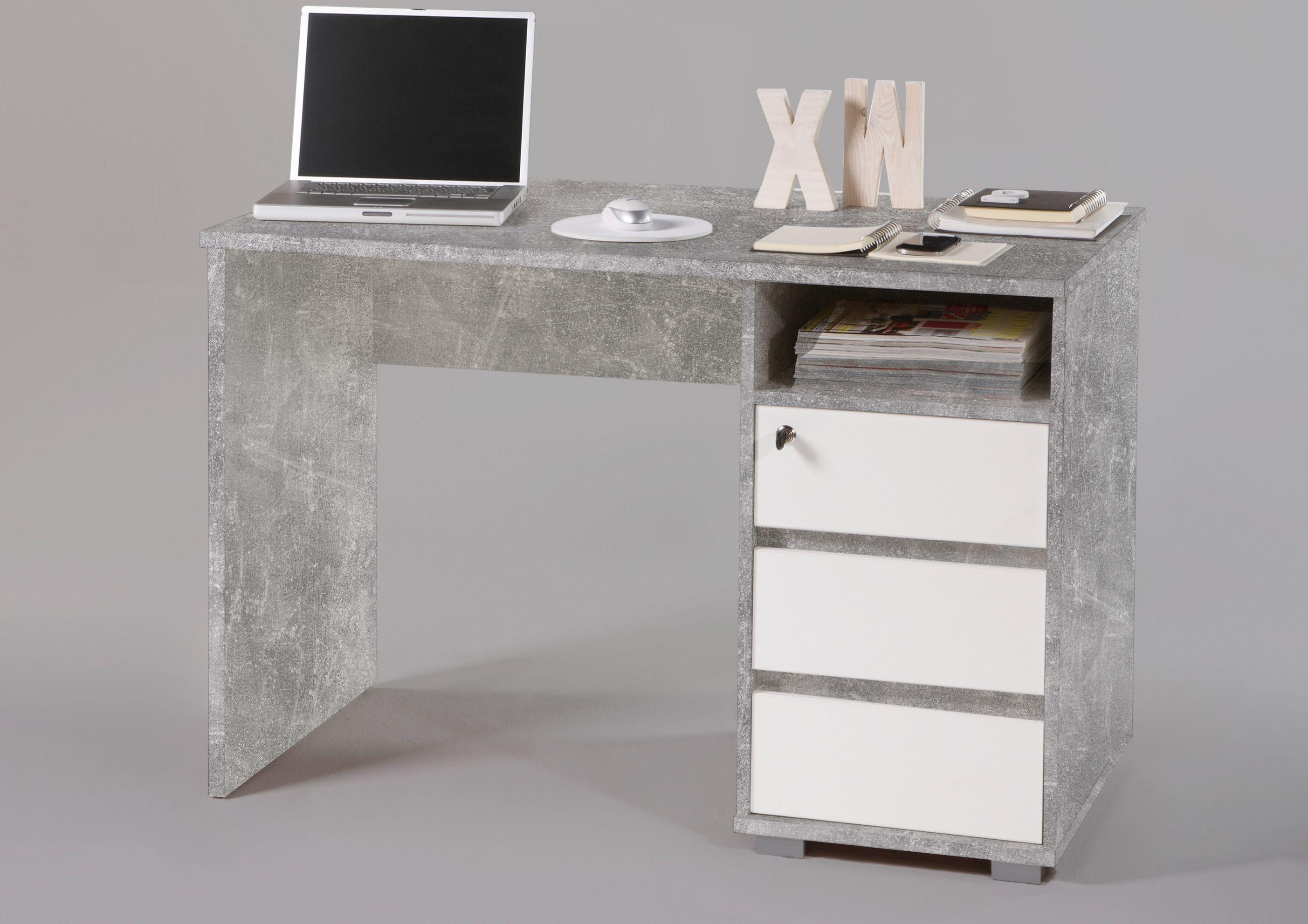 """Schreibtisch /""""PRIMUS/"""" PC Tisch Computertisch Home-Office Büro Beton grau 110cm"""