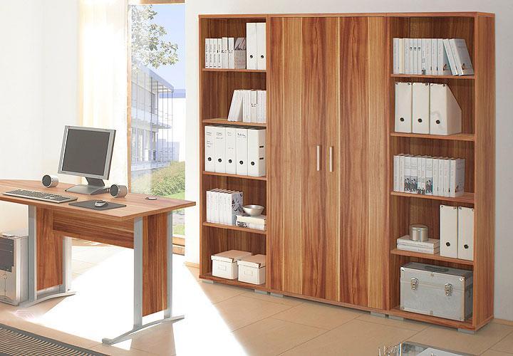 b rom bel set office line schreibtisch eckschreibtisch b roeinrichtung walnuss ebay. Black Bedroom Furniture Sets. Home Design Ideas
