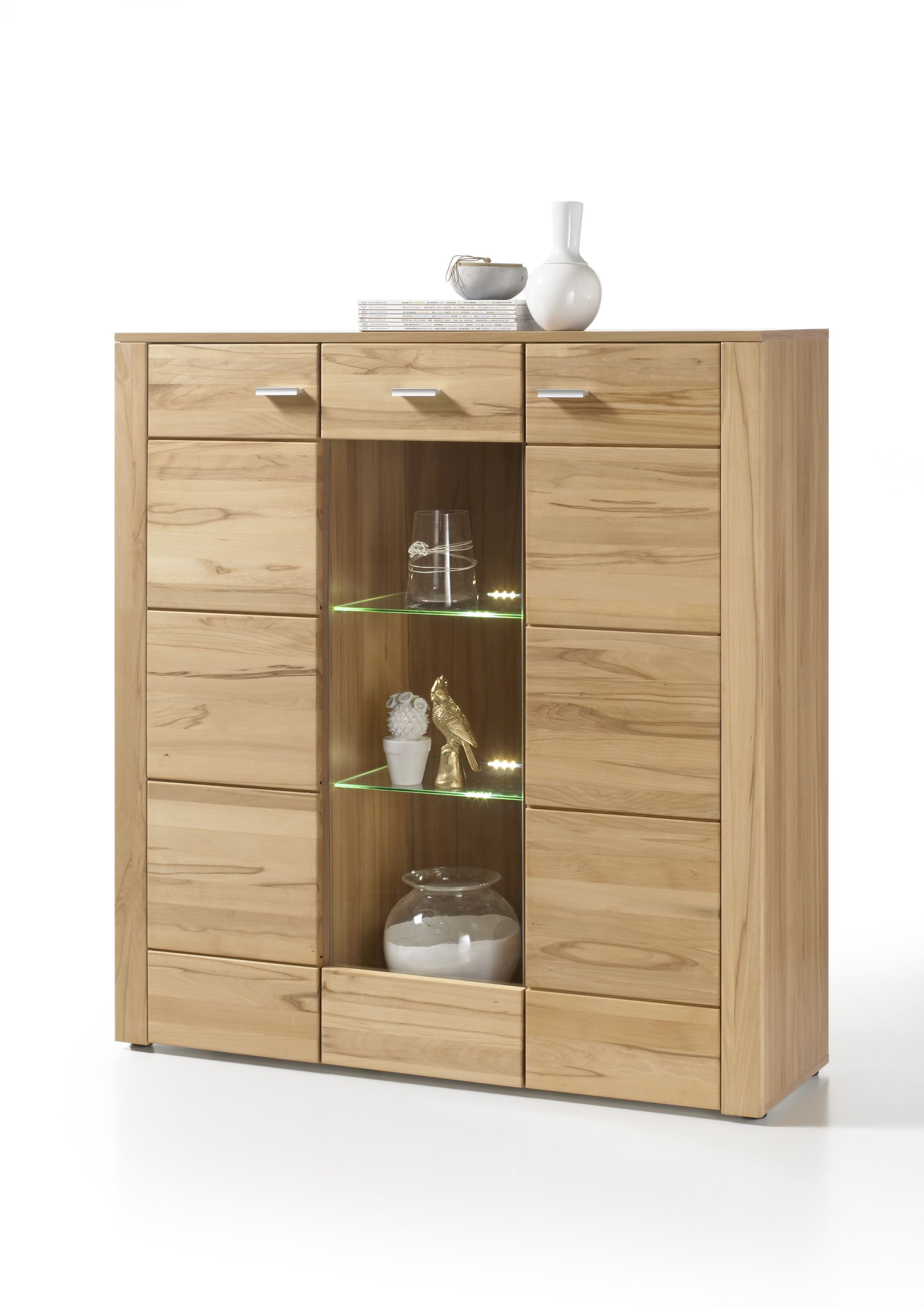 highboard kommode donau kernbuche teilmassiv 126 cm mit. Black Bedroom Furniture Sets. Home Design Ideas