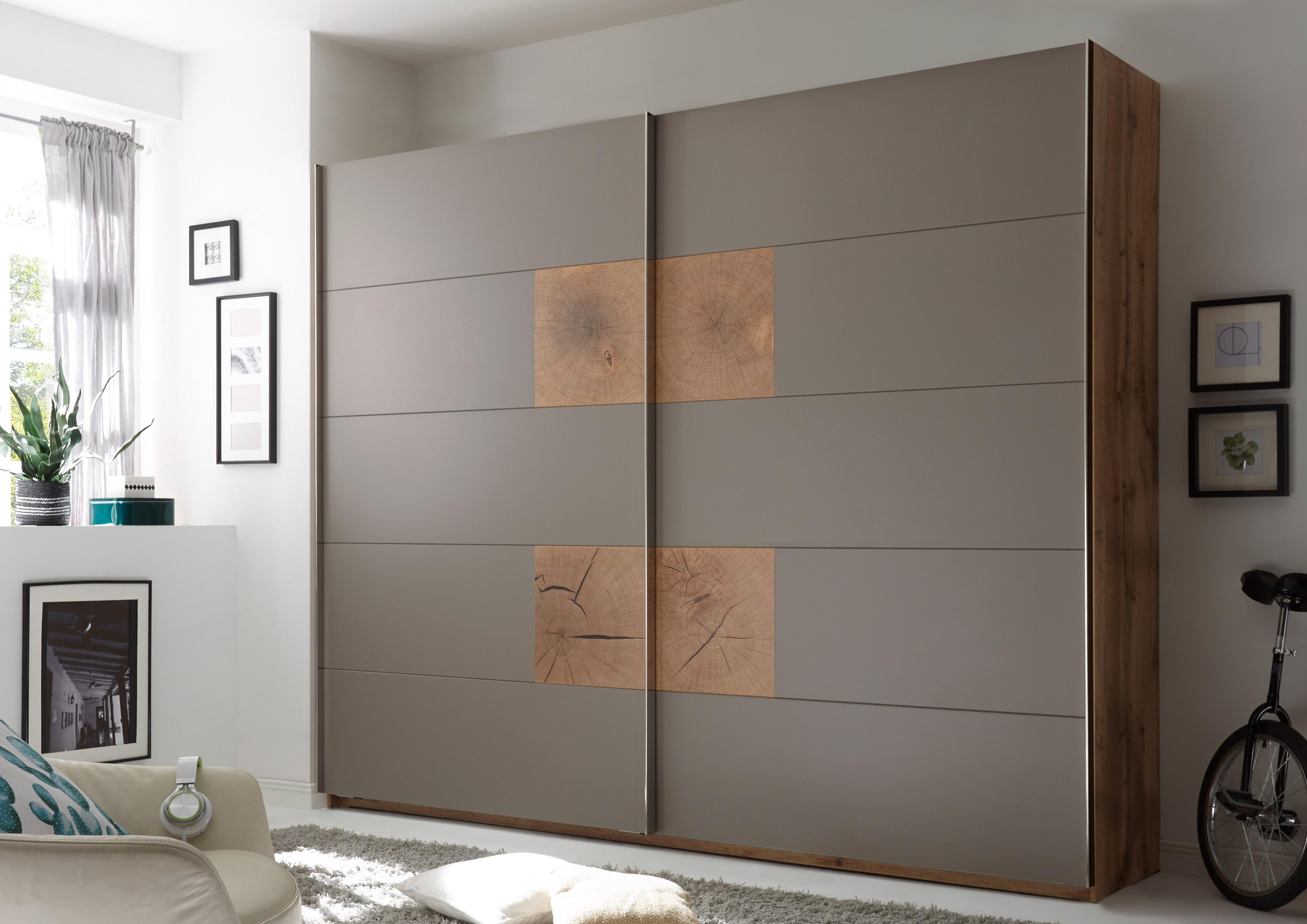 schwebet renschrank capri kleiderschrank schrank schlafzimmer grau eiche 270cm ebay. Black Bedroom Furniture Sets. Home Design Ideas