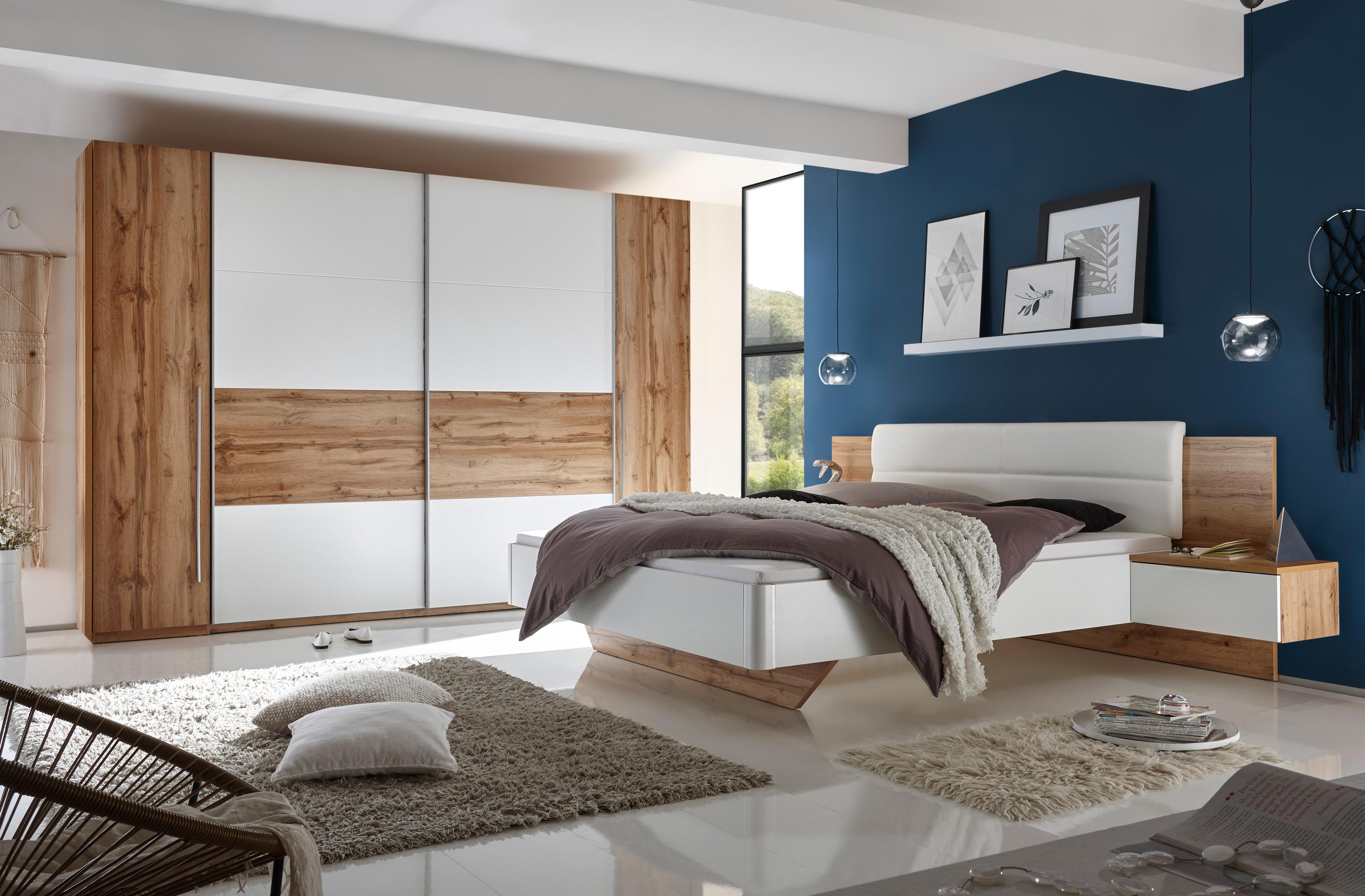 Schlafzimmer komplett set 4 tlg san marino wei wildeiche for Schlafzimmer komplett set