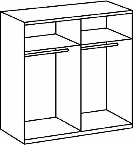schwebet renschrank kleiderschrank schrank braun eiche sonoma spiegel 170cm ebay. Black Bedroom Furniture Sets. Home Design Ideas