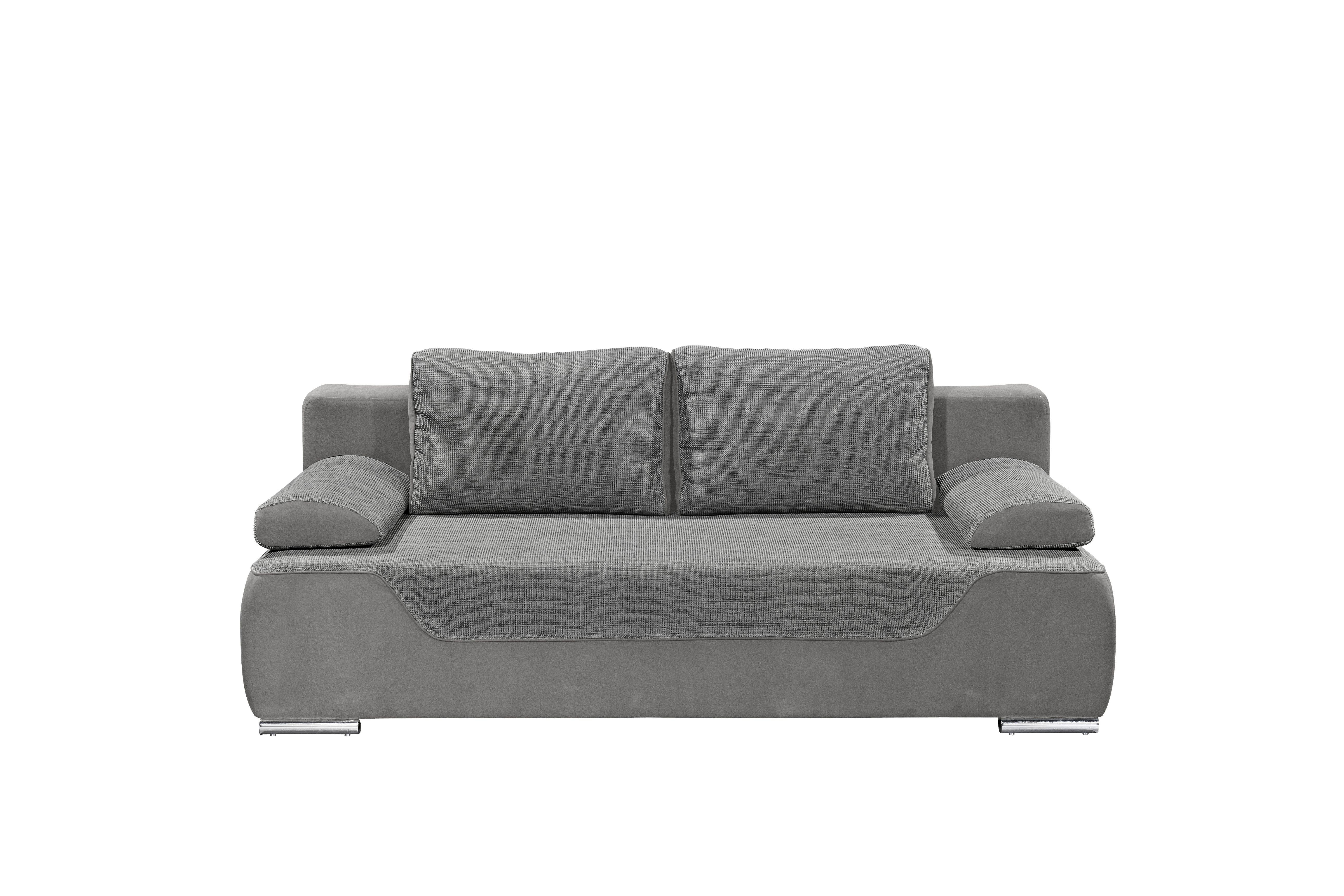 Couch Schlafsofa Sofabett Funktionssofa Ausziehbar Grau 200 Cm Ebay