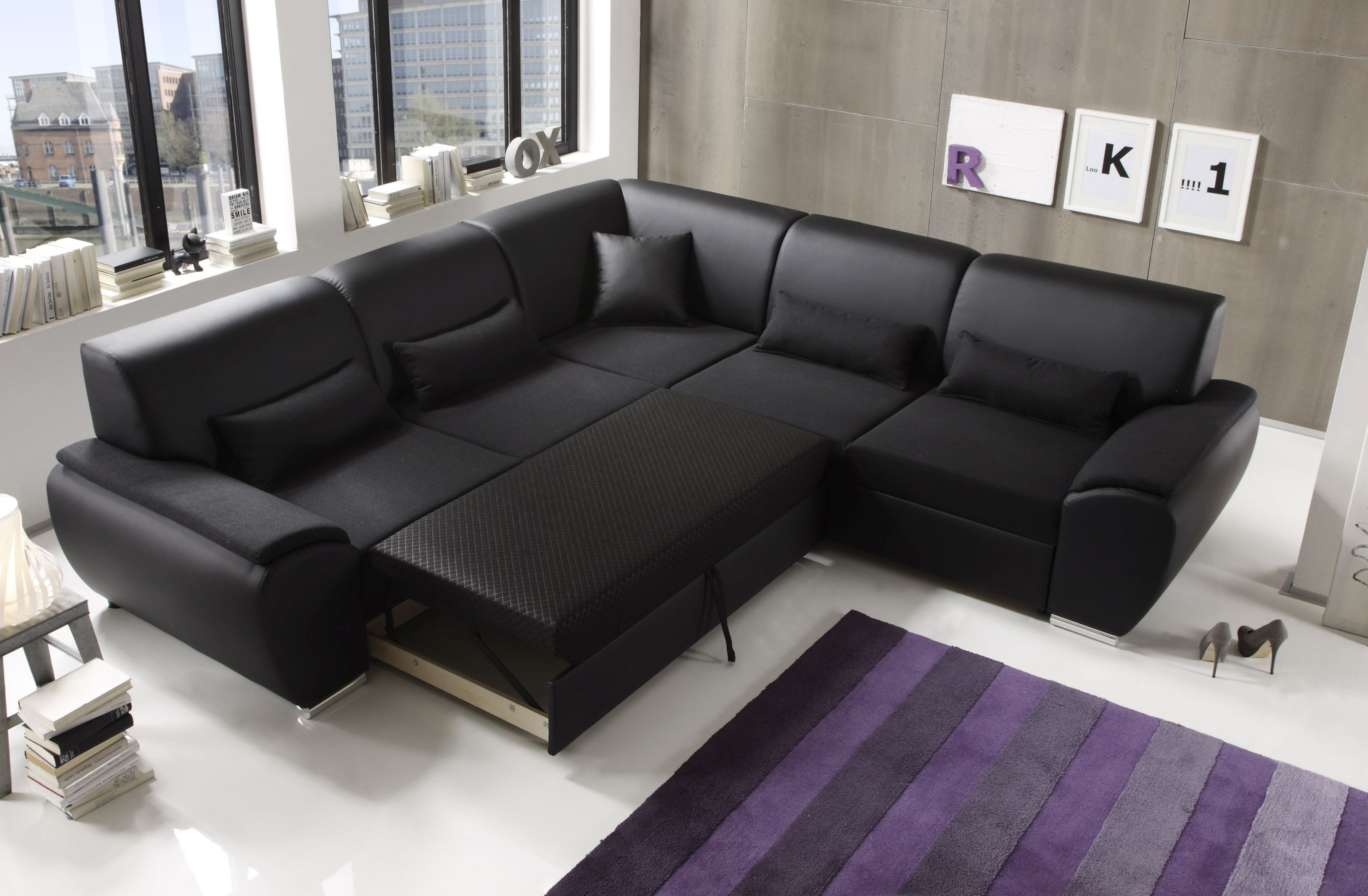 Ecksofa kombiecke couch schlafcouch funktionssofa for Schlafcouch ecksofa