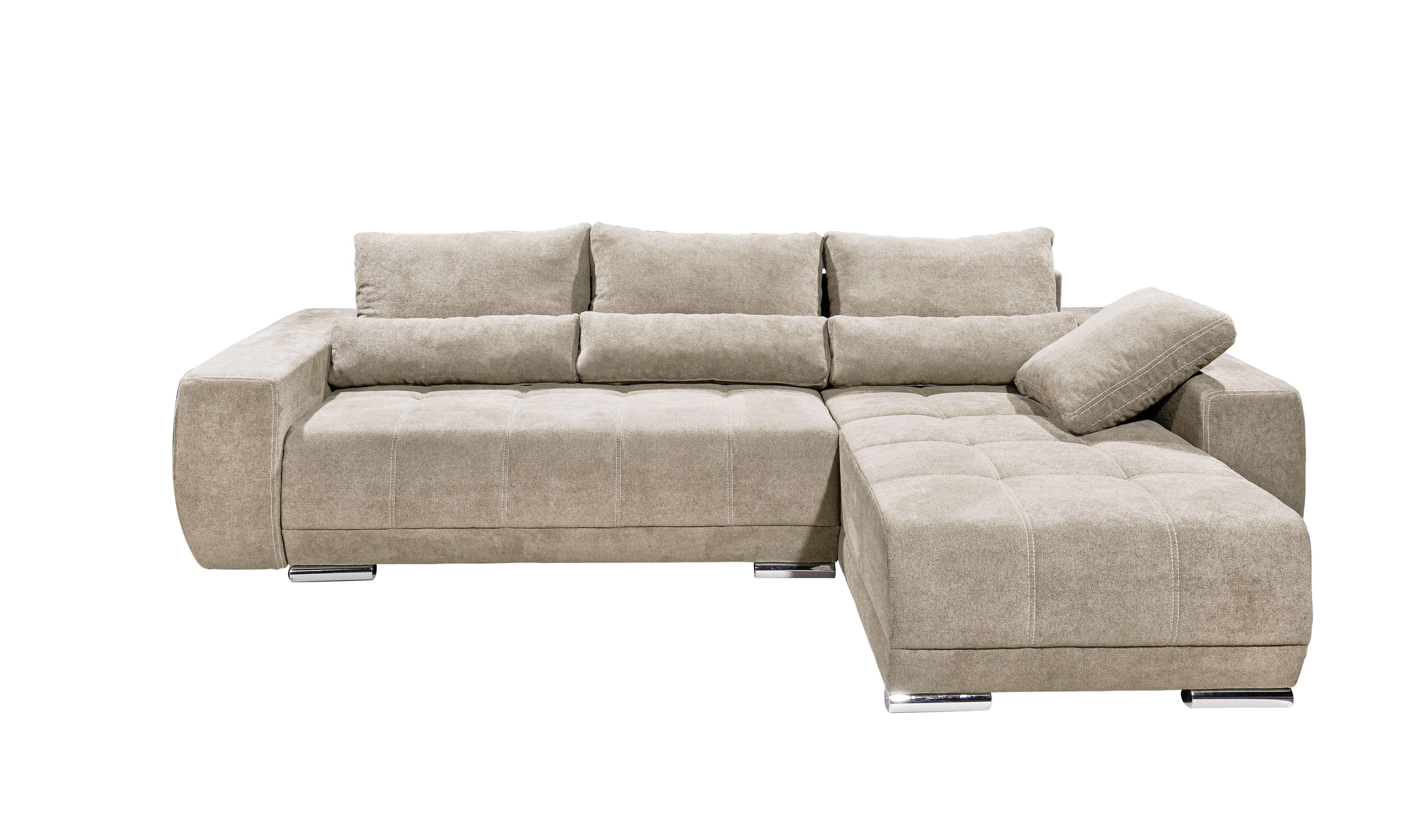 Details Zu Eckcouch Lopez Couch Schlafsofa Funktionssofa Ausziehbar Beige 305 Cm
